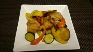 脳活性料理チキンといろどり野菜